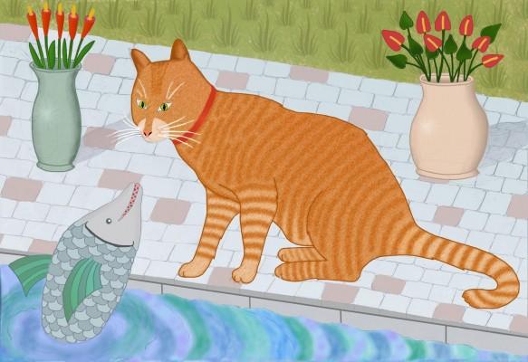 חתול ציור